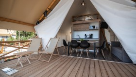 Premium three bedroom safari tent