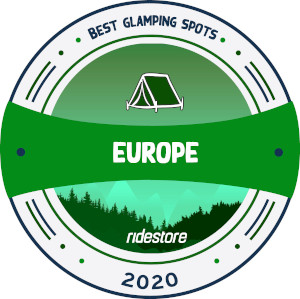 best glamping spots in europe award badge